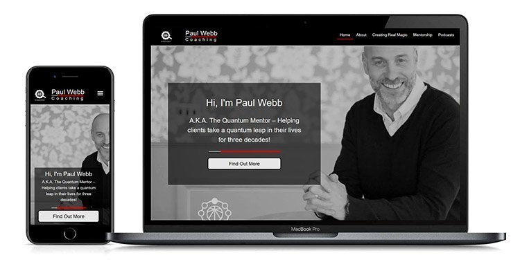 Paul Webb Coaching Website Design By Lexi Media